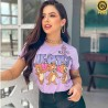 T-shirts Feminina Em Suede