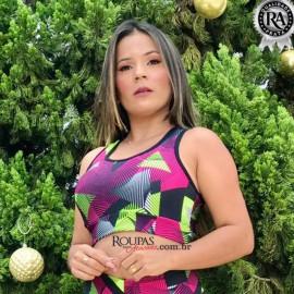 Top Fitness Academia Estampado