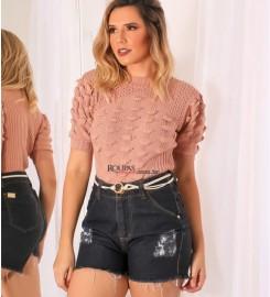 Short Jeans Curto Cintura Alta Vários Modelos