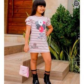 Vestido Infantil Estampado Lívia