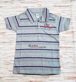 Camisa Polo Infantil Listrada