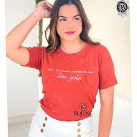 Tshirt Feminina Canelada Com Frases