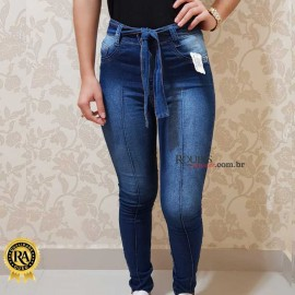 Calça Jeans Com laço Cintura Alta