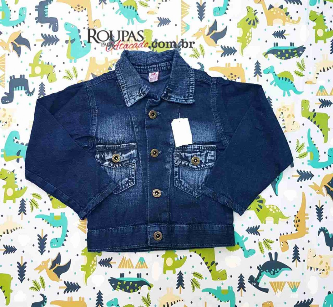 02c5dd65a0 Jaqueta Jeans Infantil Masculina - Roupas Para Atacado