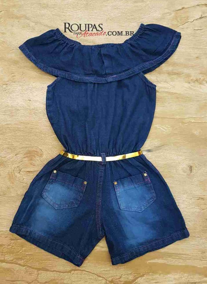 Macaquito Ciganinha jeans Infantil - Roupas Para Atacado 36df322d8801a
