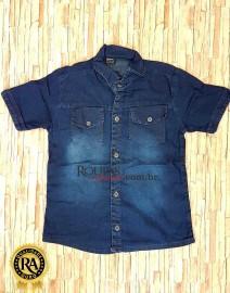 Camisa Social Jeans Infanto Juvenil