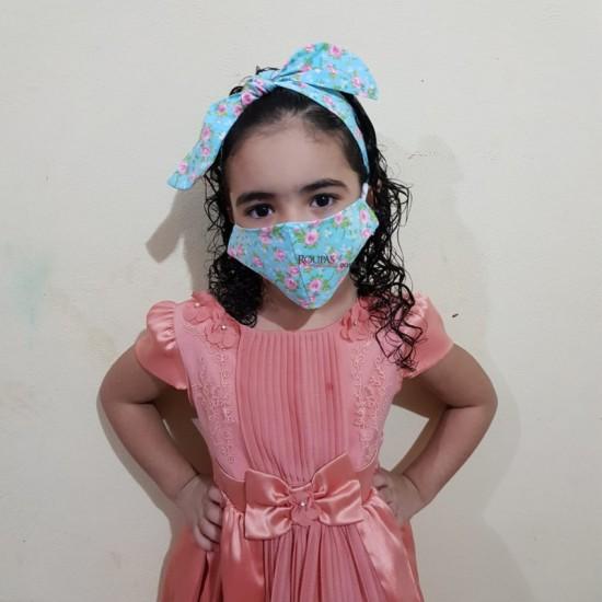 Kit Máscara e Turbante Infantil