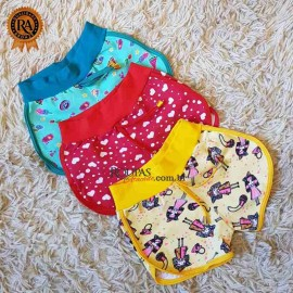 Short Infantil Estampado em Cotton