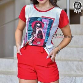 Blusa Tshirt Feminina Estampada