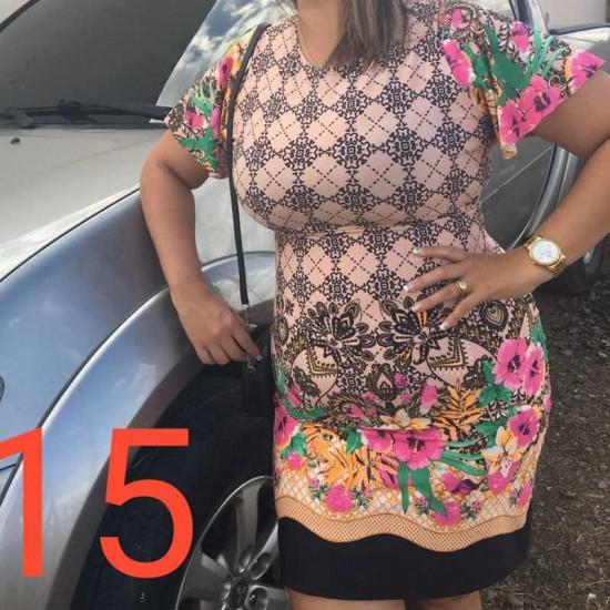 1e026d9767 Vestido Feminino G Estampado Barrado Varios Modelos - Roupas Para ...