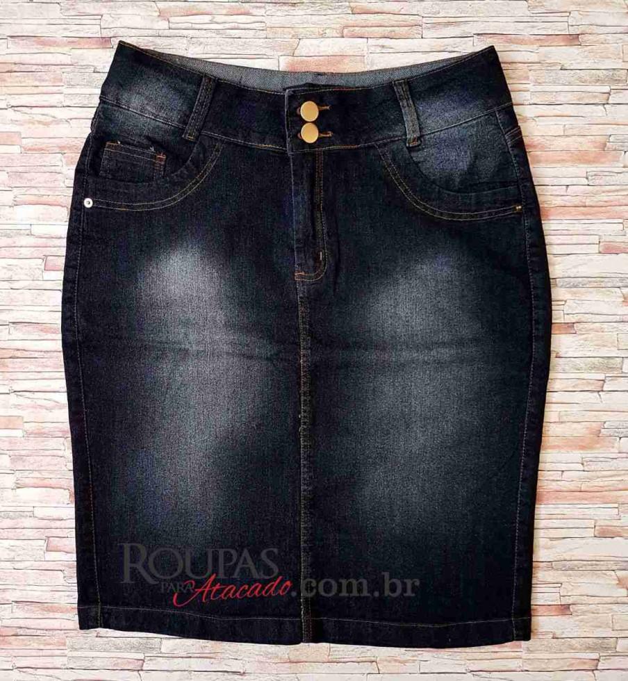 60c67e4850 Saia Plus Size Jeans com Lycra Evangélica vários modelos - Roupas Para  Atacado