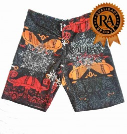 KIT Bermuda Tactel Praia Surf Adulto Estampada