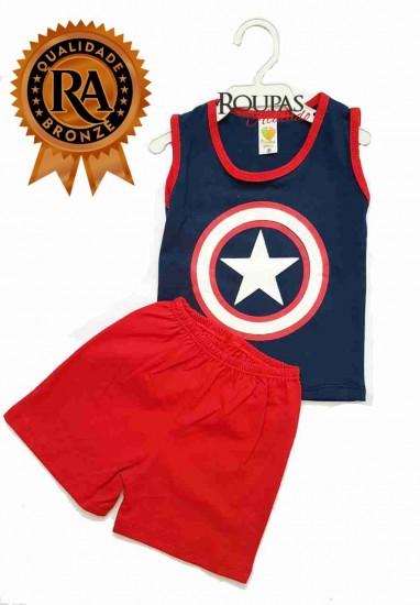 Conjunto Infantil Super Heróis - Roupas Para Atacado 460115e9663